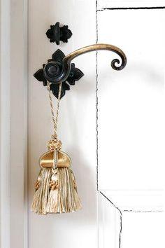 tassel on a charming door.