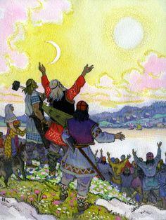 nicolai heroes of kalevala free the hosts of Fairytale Art, Fantasy Images, 3 Arts, Norse Mythology, Conte, Deities, Illustrators, Folk Art, Fairy Tales