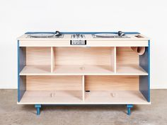 """In 2015, Albane Salmon et Paul Demarquet created """"l'Atelier Sauvage"""", a human sized design studio using organic materials only. For this made-to-order wooden dj-booth,they used oa…"""