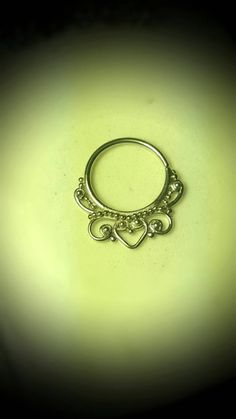 "Shaped Sterling Silver 925 Septum Clicker Cartilage Jewelry Captive Hoop 18g 7/16"" Daith Piercing Earring Ring Nose Filigree Victorian by ABodyJewelry on Etsy https://www.etsy.com/listing/253133452/shaped-sterling-silver-925-septum"