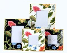 Dana Gibson White  and Black Flower Picture Frames /Large