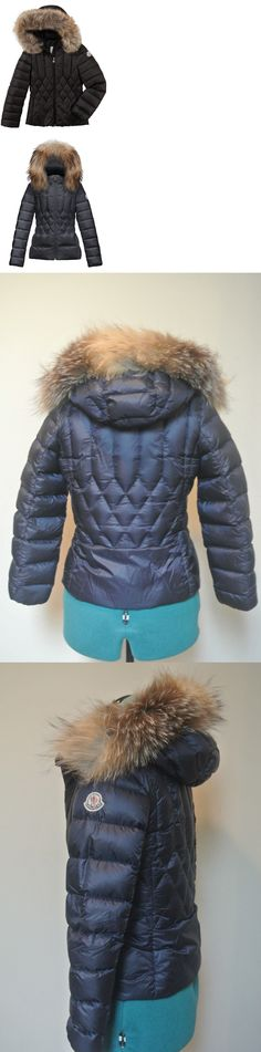 Outerwear 155201: Nwt Moncler Adanna Diamond Quilted Puffer Coat Jacket Hooded Collar Fox Fur Down -> BUY IT NOW ONLY: $400 on eBay!