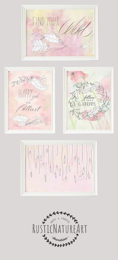 Girly Quote Print 'Happy Girls Are The Prettiest' - Girls Room Decor.