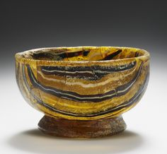 "ancientpeoples: "" Glass footed bowl Roman (Eastern Mediterranean), 1st century BC Source: The J. Paul Getty Museum """