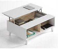 Modern storage coffee table in oak and white. Featuring latest design with modern homes in mind.Oak Effect and WhiteLift up storageDelivered flat Packed Lift Up Coffee Table, Lift Table, Home Coffee Tables, Coffee Table With Storage, Types Of Furniture, Furniture Design, Discount Furniture, Floating Nightstand, Shelves