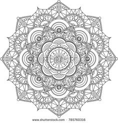 Adult mandala coloring page. Relax and art.