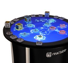 #Reactable. Make music with your table and different shapes that signify different waveforms. Someday, I will have one of these.