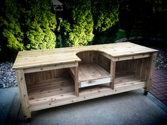 Build your own Big Green Egg Table for a Large or XL Big Green Egg. green houses DIY Big Green Egg Table - Part 1 Big Green Egg Outdoor Kitchen, Big Green Egg Table, Green Egg Grill, Outdoor Kitchen Plans, Outdoor Kitchen Countertops, Outdoor Kitchen Design, Green Eggs, Outdoor Kitchens, Outdoor Cooking