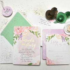 watercolor / wedding invitation / hand drawn / drawing