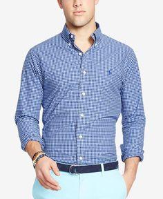 4a7837afe8dbc Polo Ralph Lauren Men s Slim-Fit Poplin Shirt   Reviews - Casual Button-Down  Shirts - Men - Macy s