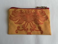 Red and Gold Purse or Small Make Up Bag, Christmas Glamour! £7.00