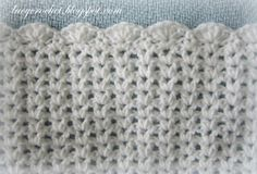 easy crochet baby afghan | Stitch Baby Afghan with Scalloped Trim