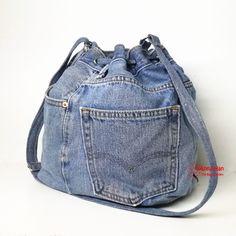 Jeans bucket bag