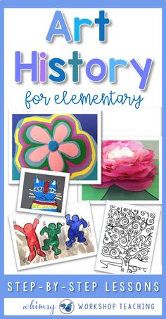 Easy art lessons are a great way to increase student engagement while integrating writing and history. Study famous artists using teacher scripts and simple step by step lessons and gorgeous art projects. #artlessons #artlessonsforkids #arteducation