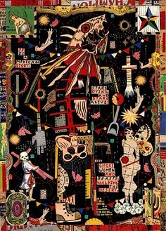 Tony Fitzpatrick, The Juarez Beast, from the Juarez Drawing Collage Series