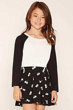 Girls Cat Skater Skirt (Kids)