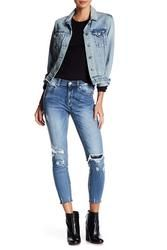 Laila High Rise Distressed Skinny Jeans (Juniors) by picVpic