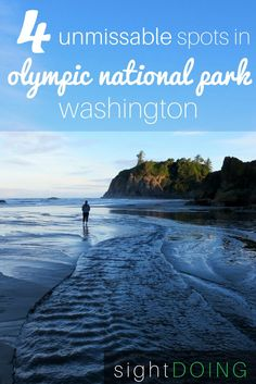 Olympic National Park WA is HUGE but this guide summarizes each reason and what not to miss. Try the mountains in Hurricane Ridge Elwha Canyon dry forest Hoh rainforest and Ruby Beach near Forks Washington. Enjoy these hikes wildlife hot springs and more. Olympic National Park Hikes, Us National Parks, Beach Honeymoon Destinations, Travel Destinations, Hurricane Ridge, Best Hikes, Forks Washington, Washington State, Ruby Beach Washington