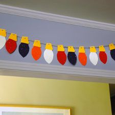 Christmas light garland for child's room