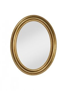 The attractive oval contours of the Pearl mirror are accentuated by the glorious gold leaf gilt frame, which is ridged and raised for maximum visual effect. Intricate notch details add to the impact for a truly attention-grabbing piece.
