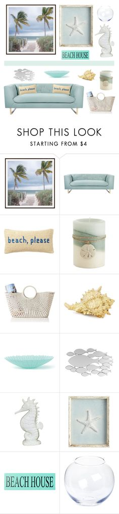 """""""Beach home"""" by alaneg-m ❤ liked on Polyvore featuring interior, interiors, interior design, home, home decor, interior decorating, Pottery Barn, Nimbus, Nordstrom Rack and Pier 1 Imports"""
