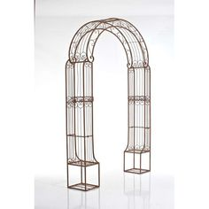 Wedding arch 04 - Elegant arch in iron, which may be used for any wedding venue. We are at your disposal to suggest you the flower decoration you like. Metal Trellis, Pergola, Metal Arch, Garden Arches, Color Palate, Iron Doors, Elegante Designs, Wedding Venues, Wedding Arches