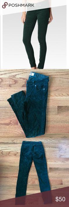 PAIGE Denim Dark Green Corduroy Jeans Dark green Corduroy Jeans by Paige. Stretchy material, Verdugo ultra skinny leg. PAIGE Jeans Skinny