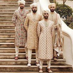 Latest Designer Wedding Sherwani Patterns for Indian Groom - LooksGud. Sherwani For Men Wedding, Wedding Dresses Men Indian, Sherwani Groom, Wedding Dress Men, Wedding Attire, Wedding Photoshoot, Mens Indian Wear, Indian Men Fashion, Indian Man