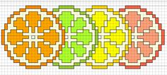 citrus fruit free cross stitch