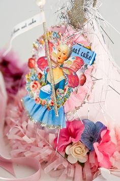 Mini Marie Antoinette Party Hat by OvertheTopStudios on Etsy, $26.00.  I need this... I can see it as being the traditional birthday hat for my niece :)