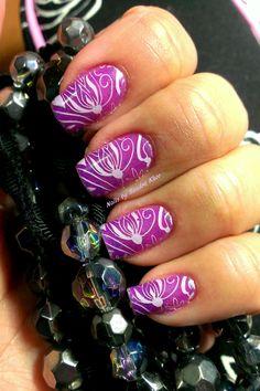 Gelaze Flying Dragon. Cici & Sisi plate 2 with Mundo pink stamp polish.