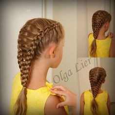 Found an old pic from last summer #olgalier #frenchbraid #dutchbraid…