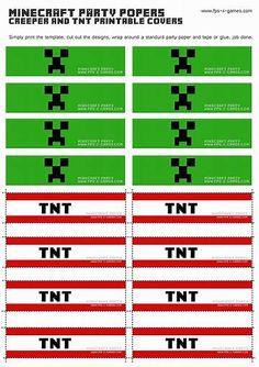 Large Scale Minecraft printable TNT block. #minecraft #printable ...
