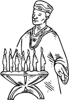 kwanzaa celebration coloring page