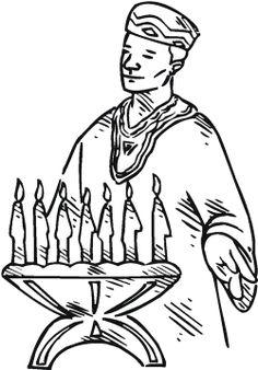 kwanzaa celebration coloring page