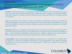 Columbus (@ColumbusDM) | Twitter #ParaCerrar #Columbus #Noticias Bolsas en niveles récord por expectativa de estímulo de BCE; Petróleo mantiene optimismo por OPEP