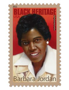 Barbara Jordan - Forever Stamp is the 34th in the Black Heritage series. Another favorite of mine for all your communiques! Happy Mailing!