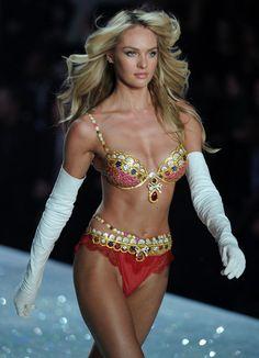 Candice Swanepoel models for Victoria's Secret