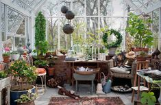 Greenhouses aren't just for work.(this is worth taking a closer look)