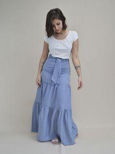 Maxi Skirt Outfits, Dress Skirt, Dress Up, Classy Outfits, Chic Outfits, Pretty Outfits, Modest Fashion, Fashion Dresses, Summer Dresses