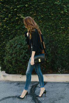 Citizens of Humanity jeans, Céline Box bag, Christian Louboutin pumps #StreetStyle