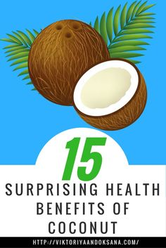 15 SURPRISING HEALTH BENEFITS OF COCONUT, what to look for in coconut products, where to buy them, how to use coconut in meals, and much more! Learn how coconuts aid in weight loss, improve immunity, speed up metabolism, anti-viral, anti-parasitic, anti-aging...Click through to read or pin and save for later! FREE EBOOK INCLUDED! via @viktoriyaandoks