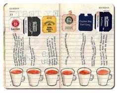 Image via We Heart It #journal #moleskine #tea
