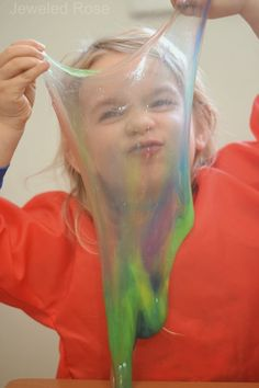 Edible and borax FREE slime recipe { A new and safe way to make slime for kids}