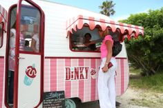 Dinky Cakes: our candy striped retro caravan of cupcake love