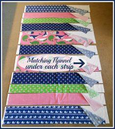 flannel strips Strip Rag Quilts, Baby Rag Quilts, Boy Quilts, Scrappy Quilts, Jellyroll Quilts, Quilting For Beginners, Quilting Tips, Quilting Tutorials, Beginner Quilting