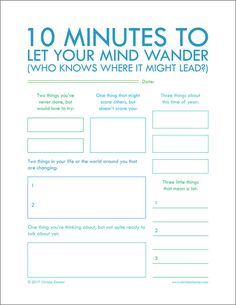 """Minutes To Let Your Mind Wander"""" - Printable Journal Pages to help you put your thoughts into words. Journal writing is an important step in not only understanding yourself but also improving your relationships. Group Counseling, Bujo, Social Work, Writing Tips, Writing Challenge, Creative Writing, Pre Writing, Kids Writing, Planners"""