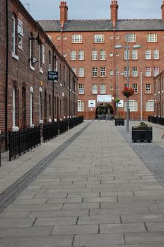 Anita Street, Ancoats conservation area, Manchester, England. Legend has it that the street, originally known as Sanitary Street, had part of its hapless name covered by its residents who had forced at the same time Manchester City Council to have their street renamed: http://aboutourisles.blogspot.fr/2014/12/manchester-street-names.html