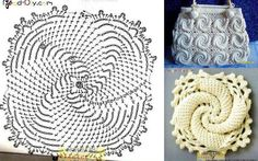 حقيبه كروشيه بوحده مميزه - elegant crochet bag ~ شغل ابره NEEDLE CRAFTS