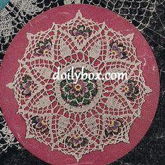 Free Crochet - Papyrus Flower Doily Pattern                                                                                                                                                                                 More